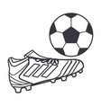 soccer boots with ball vector image vector image