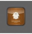 Social network wood application icons