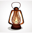 the cartoon is a miner s lantern vector image vector image