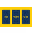 Three card tarot spread Past present and future vector image vector image