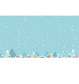 town in snow falling place flat color 001 vector image vector image