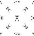two metal spatulas pattern seamless black vector image vector image