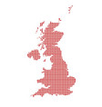 uk and northern ireland dot map silhouette vector image
