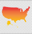 Usa united states of america map colorful orange