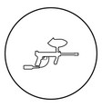 weapons for paintball icon black color in circle vector image vector image
