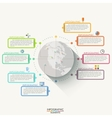 Modern infographics flat global template for 8 vector image
