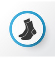 socks icon symbol premium quality isolated half vector image