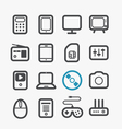 Different techno icons set vector image