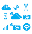 Symbol of the wireless signal vector image