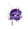 abstract design lavender in splash color brush vector image vector image