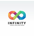 abstract infinity endless symbols and icon vector image