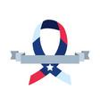 american flag ribbon banner sign vector image