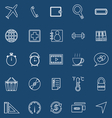 Application line icons on blue background Set 2 vector image