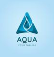 aqua logo concept design template vector image vector image