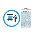 architecture presentation rounded icon with 1000