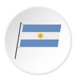 argentina flag icon circle vector image vector image