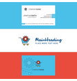 beautiful cart setting logo and business card vector image vector image