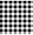 black lumberjack seamless pattern vector image