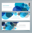 blue circles banners and headers set vector image vector image