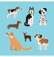cartoon happy dogs set vector image vector image