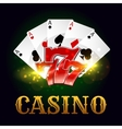 Casino poker game cards lucky number vector image