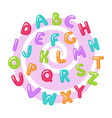 childish cute english alphabet bold shiny doodle vector image