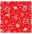 Christmas seamless pattern abstract red background vector image vector image