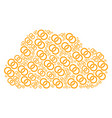 cloud composition of wedding rings icons vector image