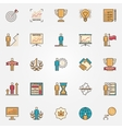 Colorful success icons vector image