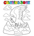 coloring book bird image 2 vector image