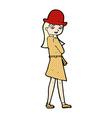 comic cartoon female spy vector image vector image