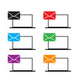 computer email icon set vector image