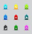 Computer network icon series vector image vector image