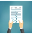 Contract termination concept vector image
