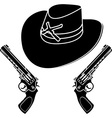 cowboy hat stencil vector image vector image