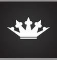 crown on black background for graphic and web vector image