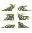 Curvy Roads Landscape Set vector image