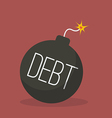 Debt bomb with sparkle vector image vector image