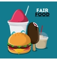 fair food snack carnival design vector image vector image