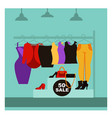 fashion clothing shop or woman dress boutique sale vector image vector image