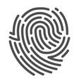 fingerprint line art human biometric symbol vector image vector image