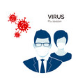 flu infection or virus outbreak protection from vector image vector image
