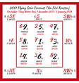 Flying star forecast 2017 vector image vector image