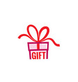 gift love abstract logo vector image vector image