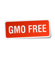 gmo free square sticker on white vector image vector image