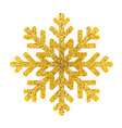 gold snowflake icon on white background vector image vector image