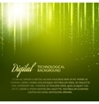 Green background with light effect vector image vector image