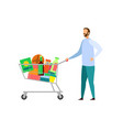 grocery store shopping flat vector image