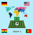 Group G - Germany Portugal Ghana USA vector image