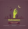 halloween poster zombie hand vector image